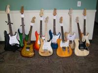 Strat's, Tele's, & RG's All great players guitars.