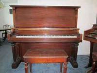 Strauss & Sons Cabinet Grand piano and bench in very