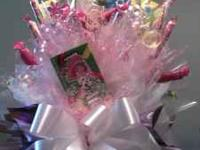 STRAWBERRY SHORTCAKE Candy Arrangement Gift and/or