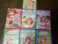 Lot of 7 little girl Strawberry Shortcake movies