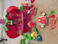 Strawberry shortcake lot. Includes house, dolls, car,