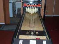 for sale: full size strike zone bowling machine.very
