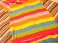 striped dress carter brand sz 4t bright colors Call or