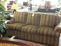 Striped Sleeper Sofa  This striped sleeper sofa is in