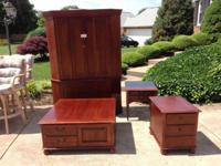 Whore 5 Piece Solid Cherry Living Space Furniture