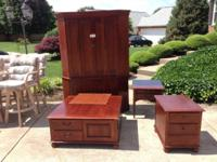 Whore 5 Item Solid Cherry Living Space Furnishings