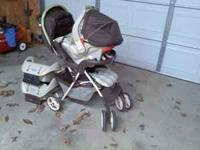 graco stroller and pumpkin seat with two bottoms! only