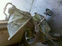 Stroller. Folds up for storage. I am coming to Fargo on