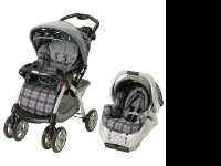 Travel system In great condition, Purple plaid