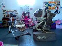Stroller with infant car seat. Playard also includes