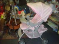 GRACO STROLLER IN VERY GOOD SHAPE, PINK HAS CUP HOLDERS