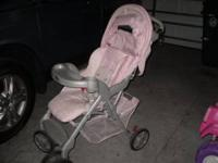 Beautiful Pink Stroller for sale. This baby really
