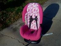 Barely used car seat and Eddie Bauer stroller. Both in