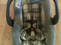 Infant carseat and stroller EVENFLO. Never been in an