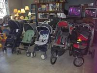 We have sturdy clean strollers in good shape.... Name