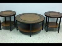 Coaster, 3 piece coffee/end table set. Model 701500.