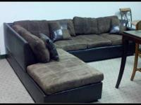 Coaster furniture sectional, model 500655. Minor wear,