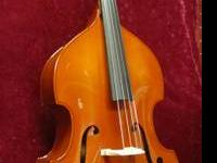 Strunal Model 50/1 Upright Bass  1/2 Size  In very good