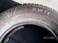 Lightly used studded snowtires P205/70R14 . 50$ or