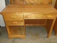All wood Student Desk with Wood Grain Formica top.  20