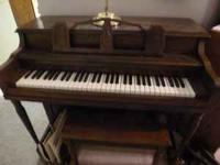 For Sale-Student Piano Upright Comes with piano bench.