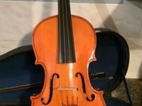 "A student viola in good shape. 15"". Good sound. Bow and"