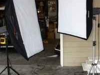 2 Interfit Stella 600w/s strobes 2 softboxes 30x30' and