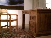 Beautiful Rustic Office Set. Four-drawer desk ideal for