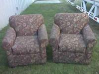 2 stuffed arm chairs. $35 each Stop by from 9am to 7pm