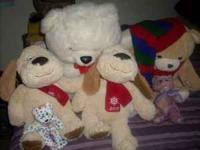 I HAVE ALOT OF STUFFED ANIMALS SOME ARE MEDIUM,SMALL