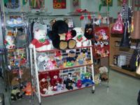 more than 130 assorted stuffed animals some musical.