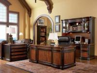 This 2 tone executive desk is absolutely gorgeous. It's