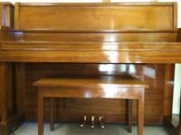 UP FOR SALE IS A PRISTINE KAWAI UPRIGHT PIANO WITH