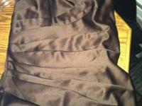 This halter/strapless dress is a beautiful brown, has a