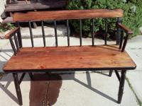 Fall has shown up !! Beautiful rustic want bench. Legs