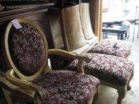 A MUST SEE ON THESE TWO HUGE CHAIRS WITH OTTOMAN.