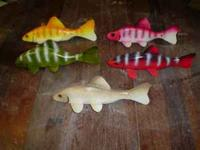 Sturgeon spearing decoys for sale. Decoys are hand made
