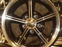 CLASSIC CAR RIMS BLACK OR GREY W/MACHINED FACE & LIP