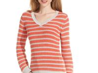 Style&co.'s striped pointelle knit sweater elevates