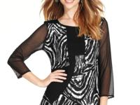 Animal-print patchwork on this chic Style&co. top