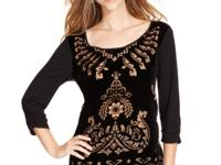 Style&co. adds allure to this top with a gorgeous