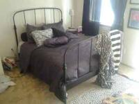 Full size black Ikea bed frame for sale in great