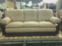 Nice size, comfy and stylish Ashley fabric sofa with 4