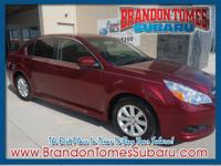 Set your sights on this red 2012 Subaru Legacy 2.5i.