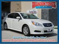 You can't go wrong with this white 2011 Subaru Legacy