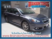 This gray 2014 Subaru Legacy 2.5i Sport is a keeper.