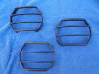 (3) @ $25 each, black/dark gray plastic fog light