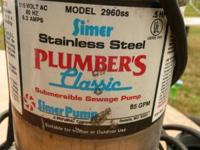 SUBMERSIBLE STAINLESS STEEL ----- ASKING $75.00 ......