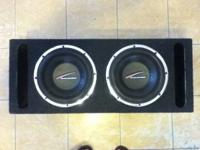 "Two 10"" AudioBahn subs in ported"