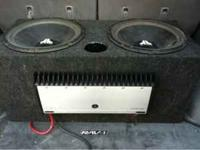 Two JL 15 inch subs in ported box with a JL V-series